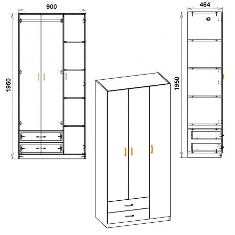 Шкаф-13 Компанит