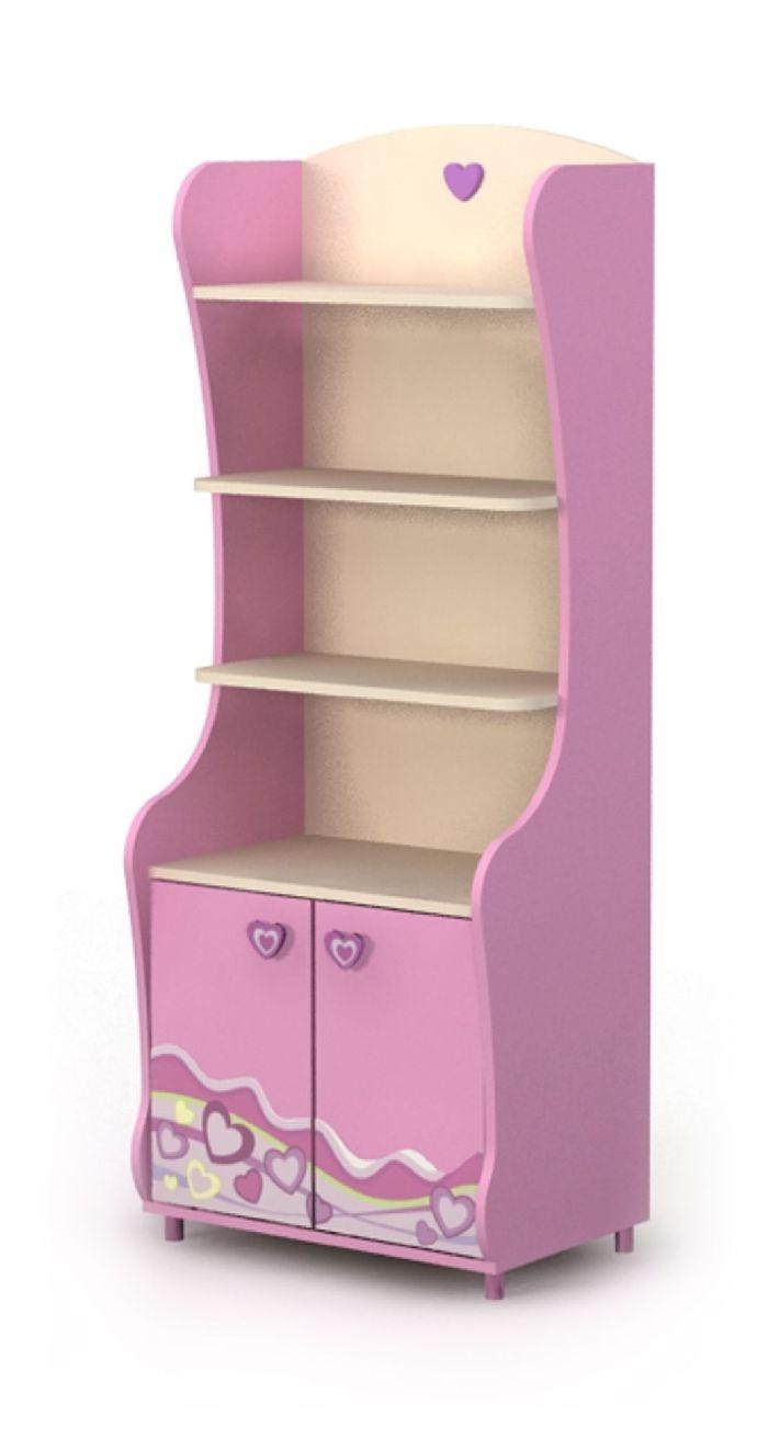 Шкаф книжный-4 Pink
