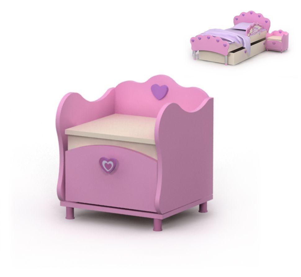 Тумба прикроватная 1 Pink