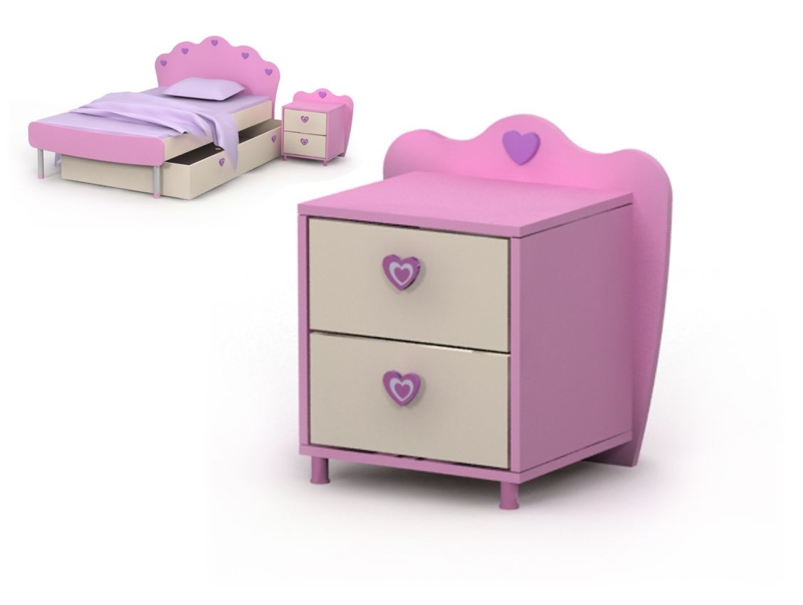 Тумба прикроватная 2 Pink