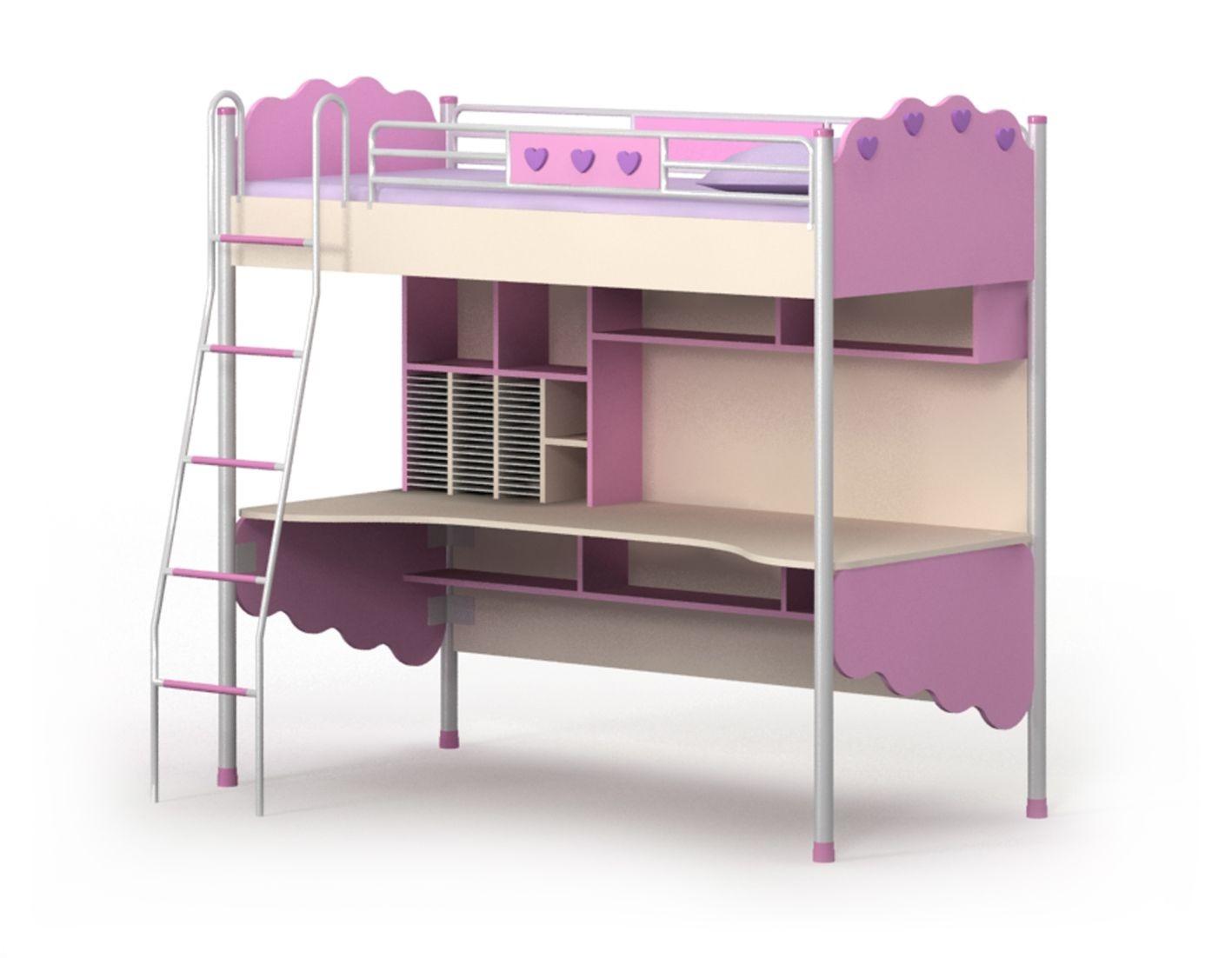 Кровать горка 1 Pink