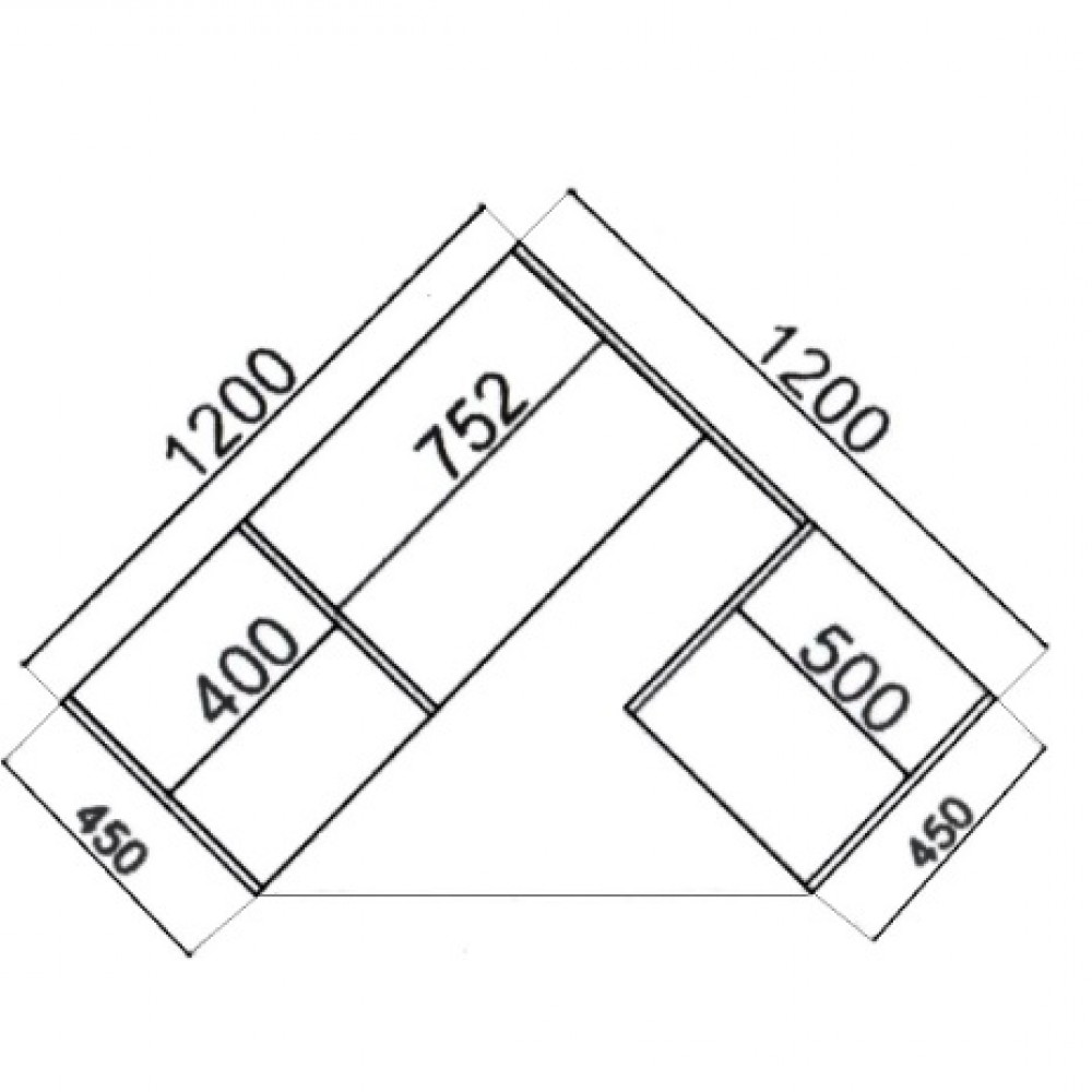 Угловой шкаф-купе Влаби 1,2м