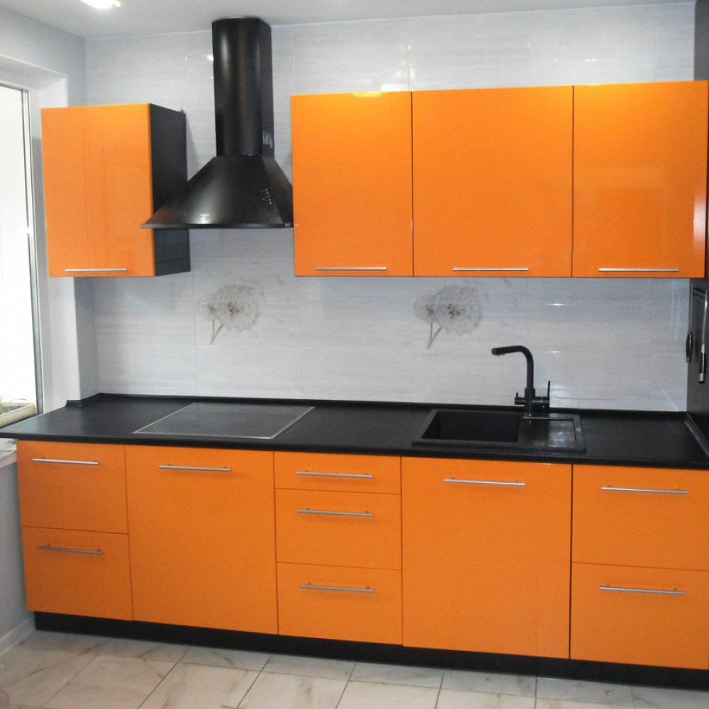 Кухня пластик Оранж 4
