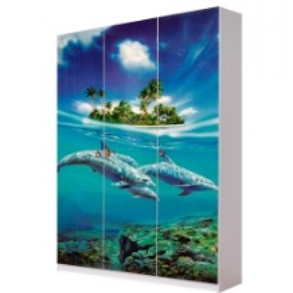 Шкаф 3Д Мульти Дельфины