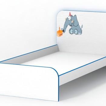 Кровать без бортиков Слоник