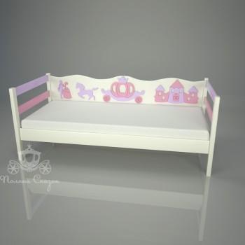 Кровать детская декорированная Золушка