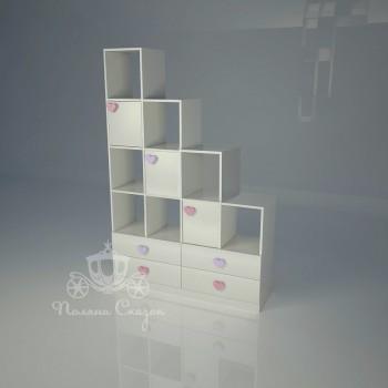 Стеллаж-перегородка с ящиками Золушка