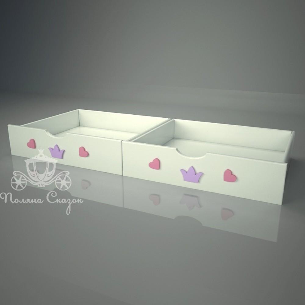 Ящики под кровать Золушка pink