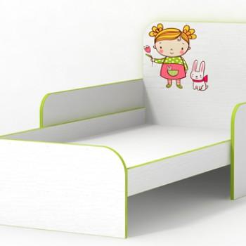 Кровать с бортиками Яблочко