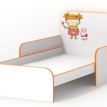 Кровать с бортиками Мандаринка