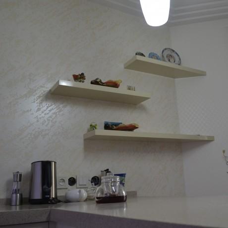 Кухня крашеная Ваниль глянец