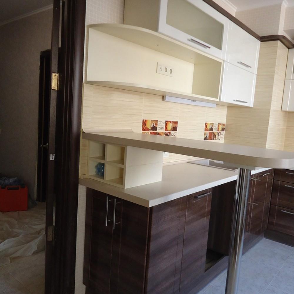 Кухня МДФ Крем