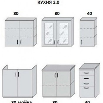 Кухня Мода 2м