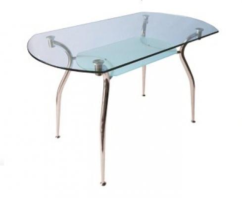 Стеклянный кухонный стол Кристал 1200*700