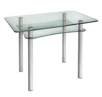 Стеклянный кухонный стол Абрис 1200*800