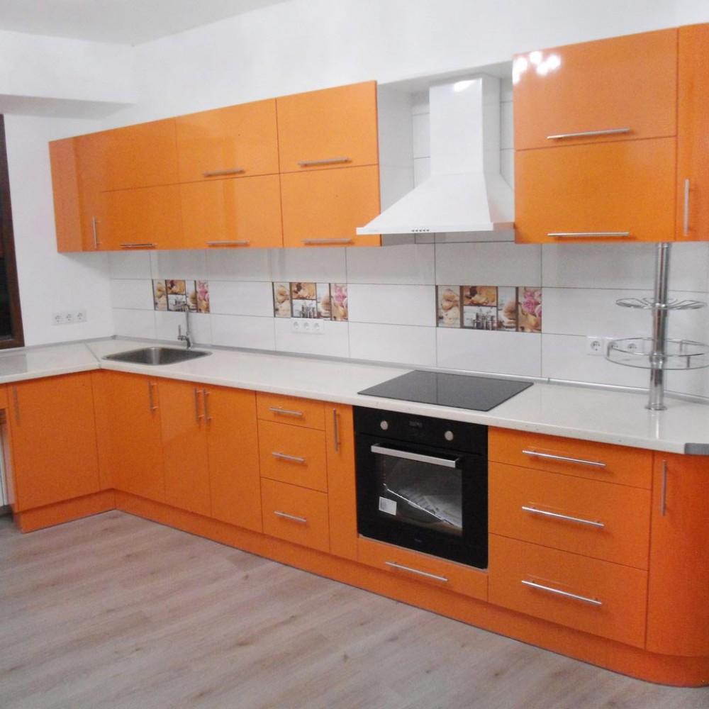 Кухня пластик Оранж 2