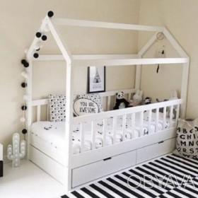 Кровать домик с ящиками
