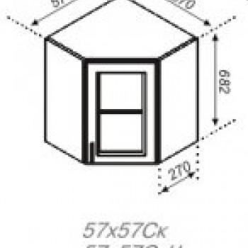 Тюльпан 57*57 верх угол витрина ЧС