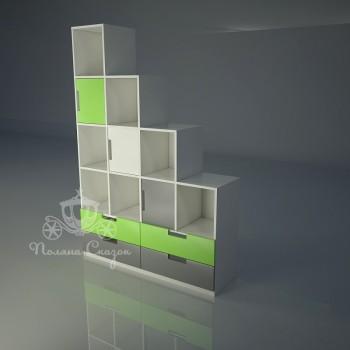 Стеллаж-перегородка с ящиками Автомобильчик