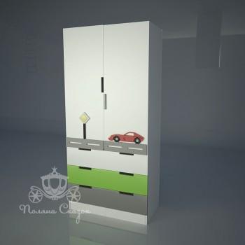 Шкаф 2-створчатый с ящиками Автомобильчик