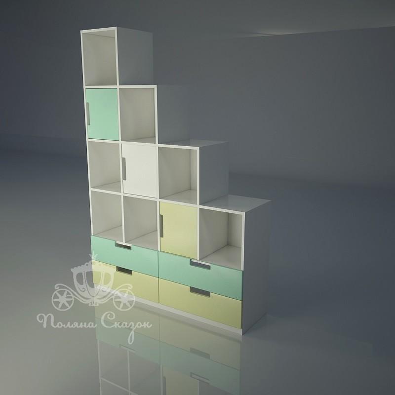 Стеллаж - перегородка с ящиками Грузовичок