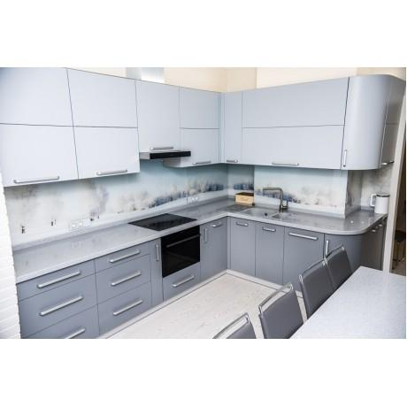 Кухня МДФ крашеная Серый мат