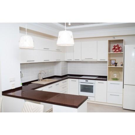 Кухня крашеная Белая матовая