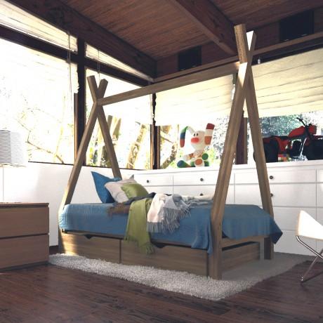 Кровать Вигвам с ящиками