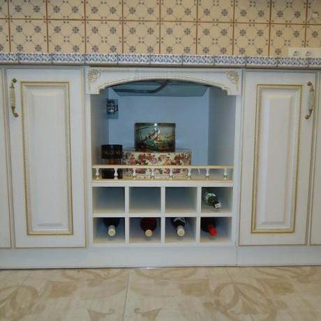 Кухня патина Ретро белая
