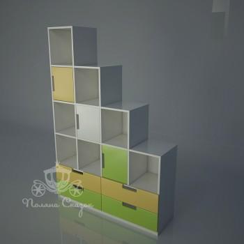 Стеллаж - перегородка с ящиками Винни