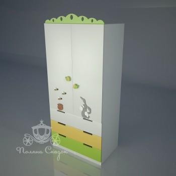 Шкаф 2-створчатый с ящиками Винни