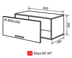Флат 80 верх горизонтальная витрина