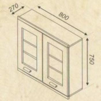 Тера 80 верх 2 витрины