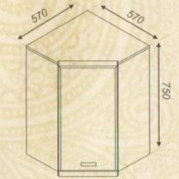 Тера 57*57 верх угол дверка