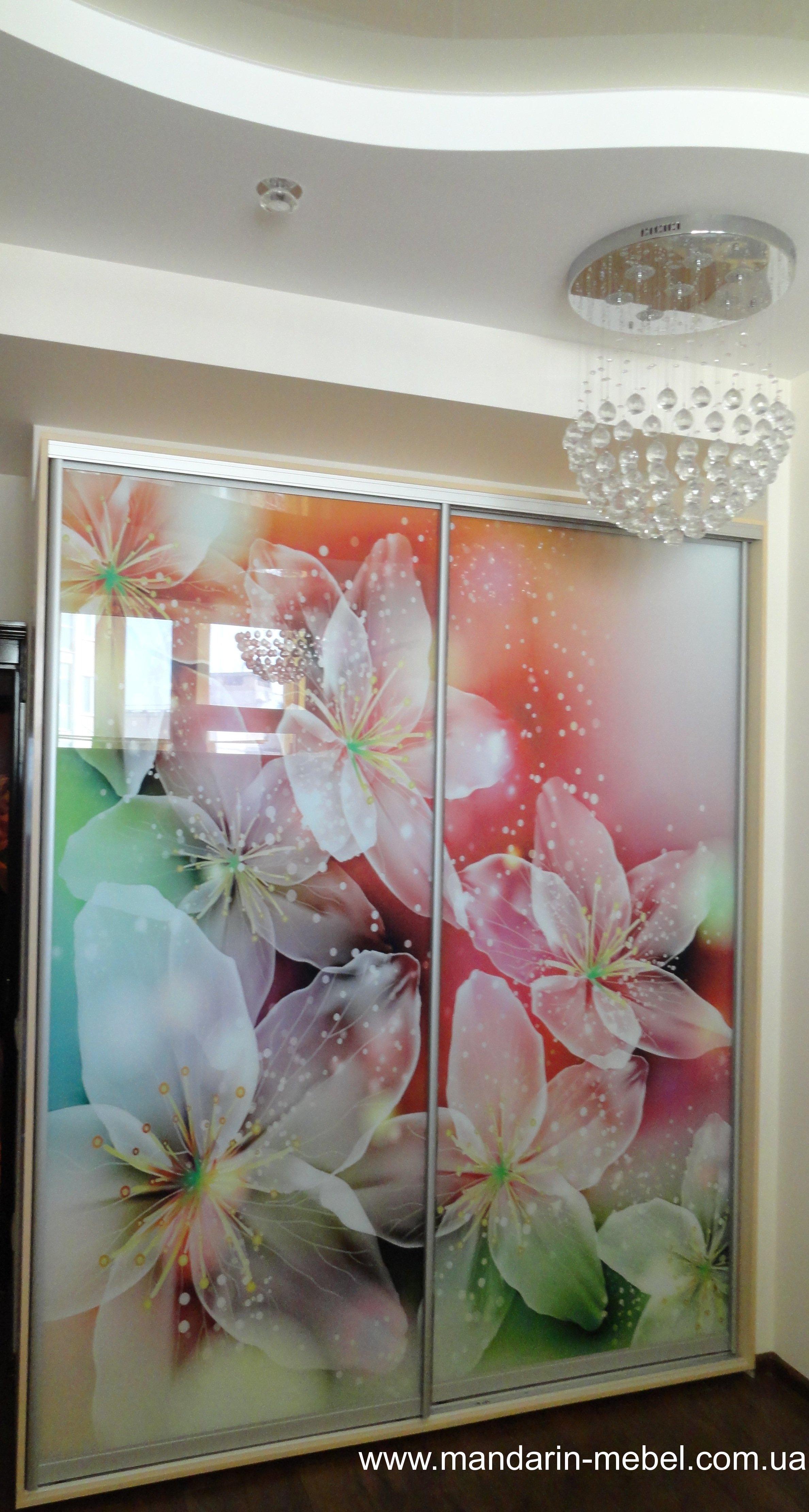 шкаф купе фотопечать цветы купить в одессе описание цена фото