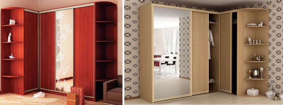 Угловые шкафы-купе - интернет-магазин мандарин мебель.